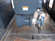 Drilling by machining Center Stock Photography