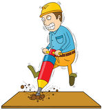 Drilling man Royalty Free Stock Photography