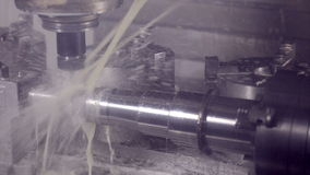 Drilling Milling CNC Machine Produces hi-tech equipment on industrial Factory. stock video