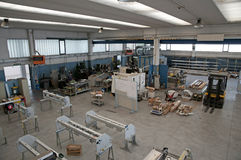 Drilling and milling CNC in workshop Royalty Free Stock Photo