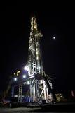 drilling night rig Στοκ Εικόνες