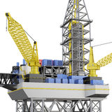 Drilling offshore platform closeup . 3d rendering Royalty Free Stock Images