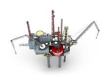 Drilling offshore Platform Stock Image