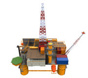 Drilling Offshore Platform Oil Rig. Isolated on white background. 3D Render Stock Photography