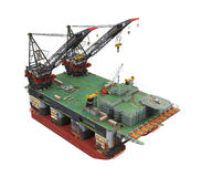 Drilling Offshore Platform Oil Rig Royalty Free Stock Images