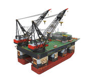 Drilling Offshore Platform Oil Rig Royalty Free Stock Photos