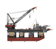 Drilling Offshore Platform Oil Rig Stock Photos