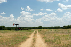 Drilling oil. In Texas panhandle Stock Photo