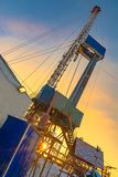 Drilling an oil well in an oil and gas field in the Arctic royalty free stock photography