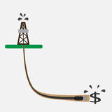 Drilling oil well vector illustration Royalty Free Stock Image
