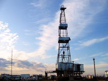 Drilling of oil wells royalty free stock photo