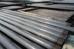 Drilling pipe Stock Image