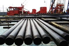 Drilling pipe Royalty Free Stock Image