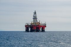 Drilling platfom , oil rig , offshore drill platform royalty free stock photo