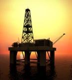 Drilling Platform. In sea (see more in my portfolio Stock Photo