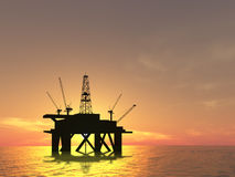 Drilling Platform royalty free stock photo