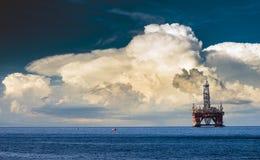 Drilling platform on the ocean Stock Photo