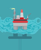 Drilling platform Stock Images