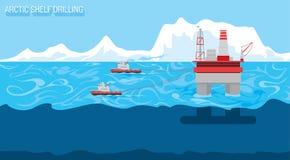 Drilling platform Stock Image