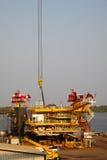 Drilling Platform under Contruction Stock Images