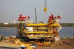 Drilling Platform under Contruction Royalty Free Stock Photography