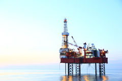 Drilling platform with white background stock photography