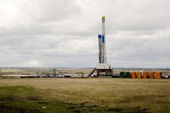 Drilling on the prairie Stock Photo