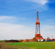 Drilling Rig. Oil drilling rig on the field Royalty Free Stock Photography
