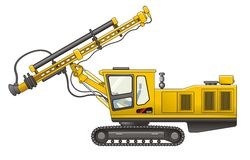 Drilling Rig. Vector illustration of Drilling Rig Special Royalty Free Stock Images
