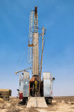 Drilling rig. For uranium industry Stock Photo