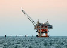 Drilling Rig. For oil and natural gas offshore Royalty Free Stock Image