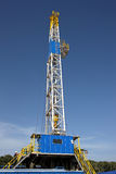 Drilling rig. Against a blue sky Stock Image
