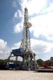 Drilling Rig. Rig drilling for gas or oil Stock Photography