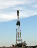 Drilling Rig. Oil drilling rig in western Oklahoma Stock Photo