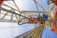 Drilling rig against the blue sky Stock Photography