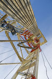 Drilling rig against the blue sky Royalty Free Stock Image