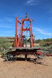 Drilling rig. Antique drilling rig used for creating holes in the earth Stock Image
