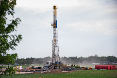 Drilling Rig in Central Colorado, USA Stock Photography