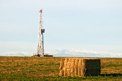 Drilling Rig East of the Rocky Mountains Royalty Free Stock Photography