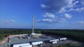 DRILLING RIG IN EAST TEXAS stock footage
