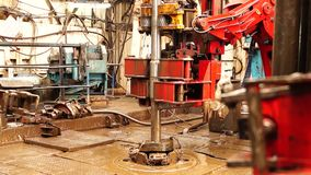 Drilling Rig, hydraulic key_6 stock video footage