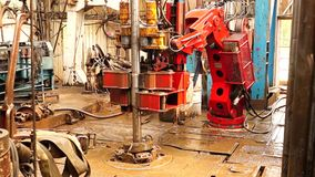 Drilling Rig, hydraulic key_8 stock video footage