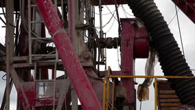 Drilling rig. Oilfield Industry stock footage
