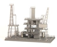 Drilling rig. Realistic 3d render of drilling rig Royalty Free Stock Photo