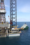Drilling rig at the sea. Royalty Free Stock Photography