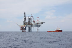 Drilling rig at the sea. Stock Photography