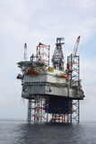 Drilling rig at the sea. Royalty Free Stock Photo