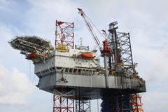 Drilling rig at the sea. Stock Photo