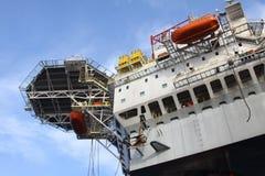 Drilling rig at the sea. Royalty Free Stock Photos