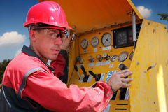 Drilling Rig Worker Stock Photography